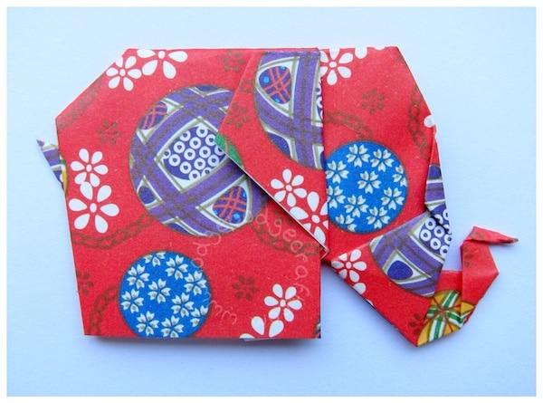 easy origami elephant
