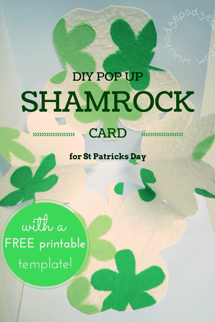 Make A Pop Up Shamrock DIY Card For St Patricks Day
