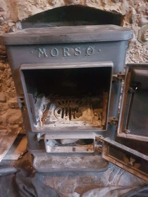 Morso squirrel multifuel stove prior to servicing by Hodgsons Chimney Sweeps in Dawlish