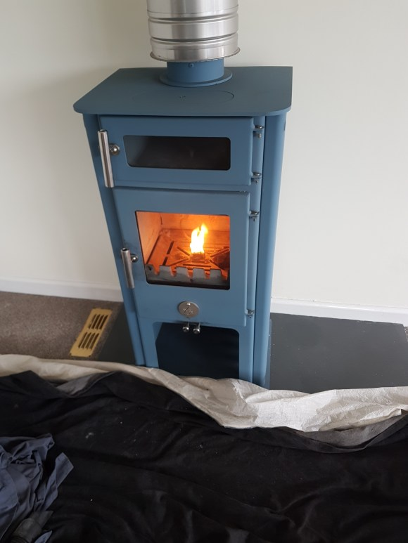 Full service, parts replacement and recomissioning of a Chilli Penguin Woodburner by Hodgsons Chimney Sweeps in Paignton