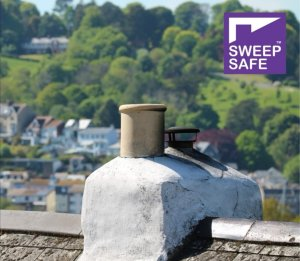 Chimney stack and termination in Brixham, Devon serviced by Hodgsons Chimney Sweeps
