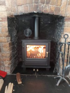 Clock Blirhfield 5 installed by our friends Harbour Stoves in Ivybridge