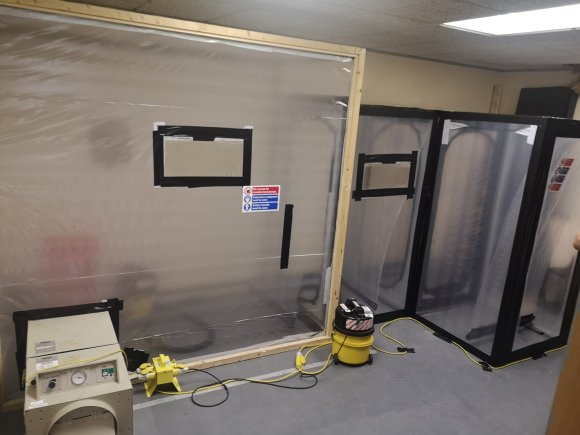Basis Asbestos Removal set up with Stage 3 Airlock