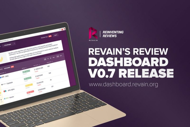 Revain Dashboard version 0.7