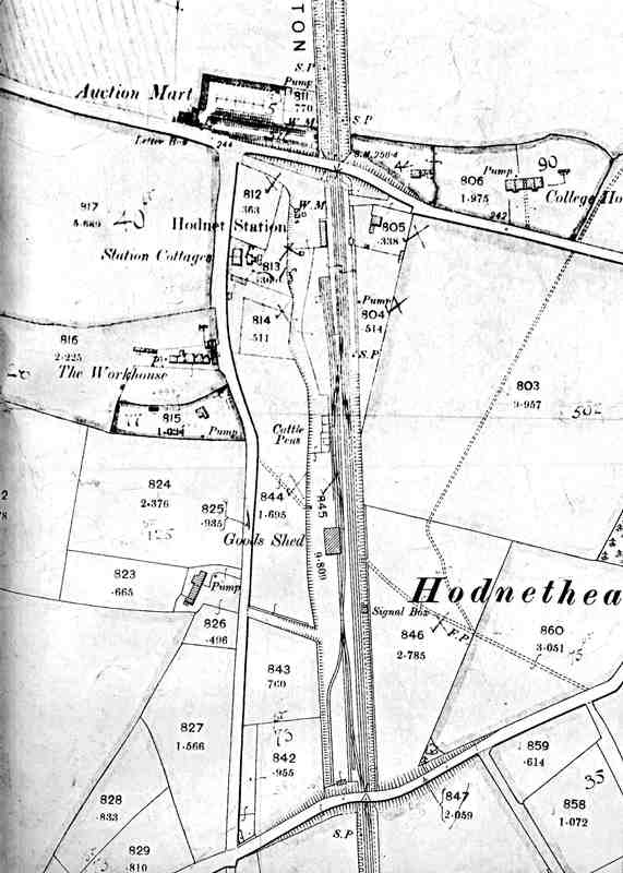 Hodnet Station Map 1898