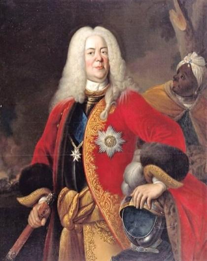 1700s Johann Conrad Eichler (1688-1748) Portrait of Louis Rudolph, Duke of Brunswick-Lüneburg (1671-1735)