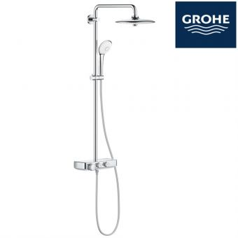 grohe euphoria smartcontrol 260 shower system thermostatic shower mixer for wall mounting