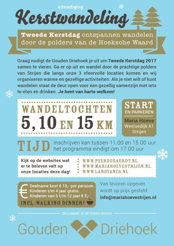 Populaire Kerstwandeling Door Polders Hoeksche Waard Op 2e Kerstdag