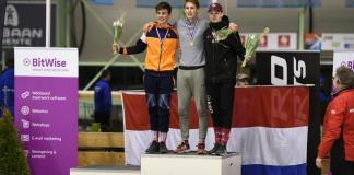 Olav Kooij pakte de zilveren medaille op de 3000 meter op NK schaatsen in Enschede. - Olav Kooij het schaatstalent van Nederland - Foto: Eric Gerrits
