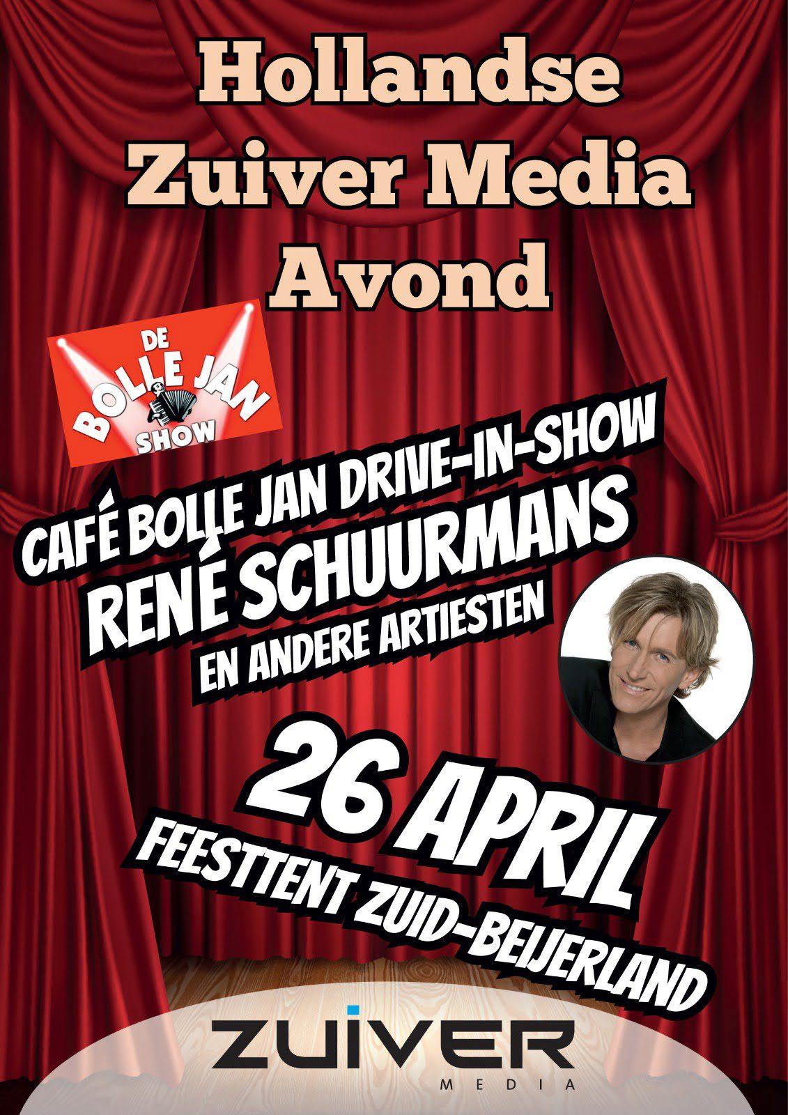 Hollandse Avond Oranjevereniging Zuid-Beijerland met Rene Schuurmans en Drive-in show Cafe Bolle Jan - Hoeksche Waard - Hoeksch Nieuws - Het laatste nieuws uit de Hoeksche Waard
