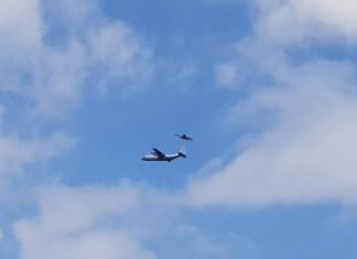 Luchtmacht met vliegtuigen boven de Hoeksche Waard - Foto Gertjan de Baat - Schildersbedrijf Hoeksche Waard