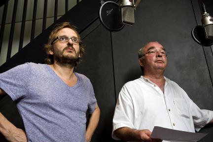 Milan Peschel, Martin Seifert; Bild: DLR / Sandro Most