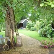 tuin bij aankomst hoestinkhof