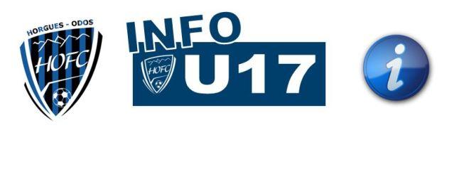 [U17] Le HOFC connaît ses adversaires