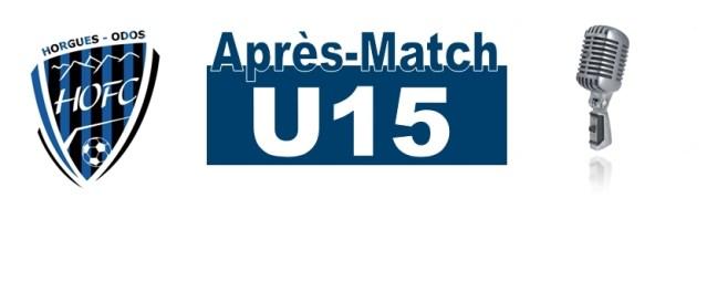 [U15] A.Da Benta :»sérieux, application, solidarité et bon état d'esprit»