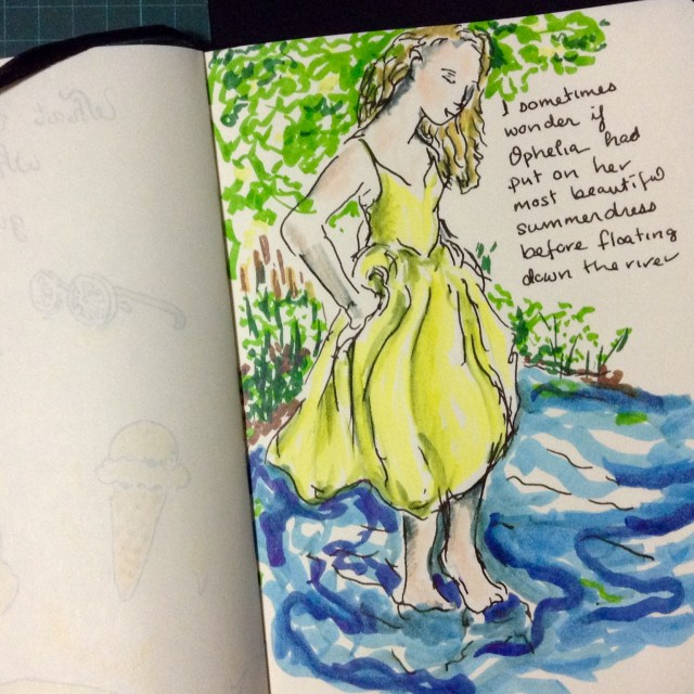 365 days of doodles, 'Summer dress'
