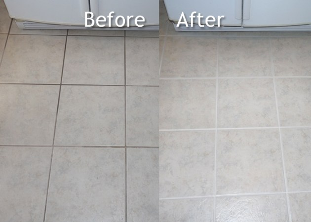 Tile   Grout Cleaning     Before   After   Hoffman s Cleaning