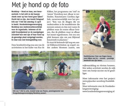 Fotograaf erik van 't Hof in actie