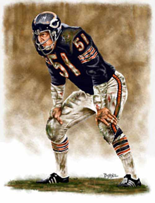 8 X 10 Dick Butkus Chicago Bears Limited Edition Giclee