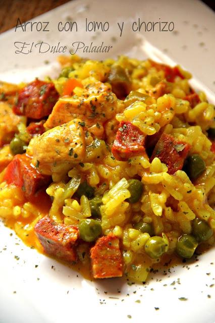 arroz lomo y chorizo