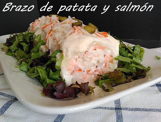 pastel frío de patata y salmón
