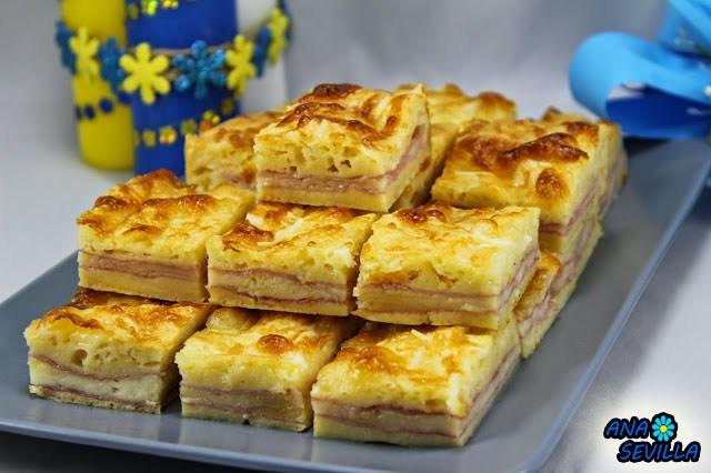 Coca de jam n y queso hogar cocina facil - Cocina facil y saludable thermomix ...