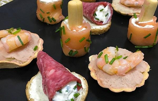 Bandeja de canap s para navidad hogar cocina facil for Canapes faciles y rapidos