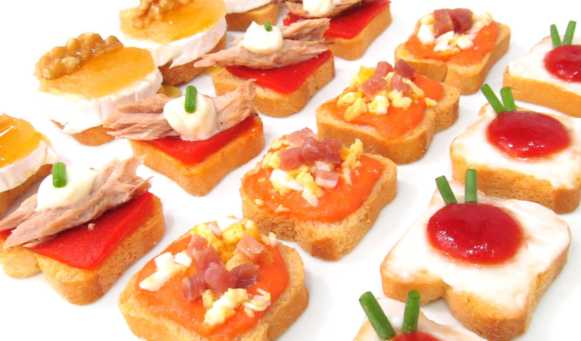 Canaps variados y baratos Hogar cocina facil
