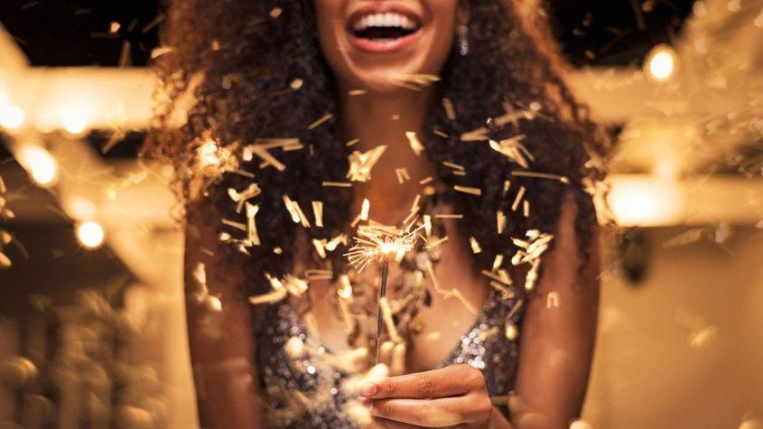 look fiesta brillar navidad:Voguemagz