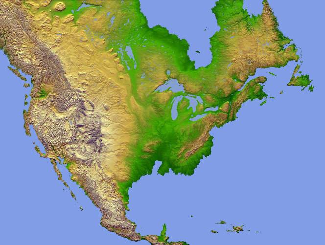 North America Topo Map