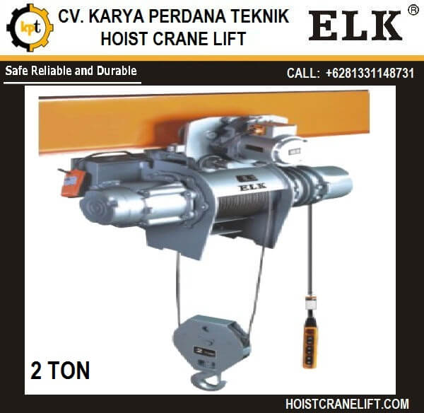 HOIST ELK 2 ton Seri HKDS-0202 JUAL HOIST MADE IN CHINA