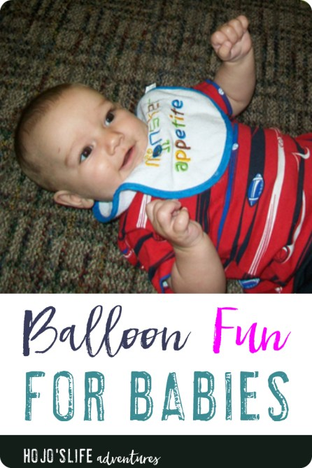 If you're looking for a fun activity to do with your baby - try this out! The look of joy on your young one's face will be worth the expense of the balloon. Just make sure you keep your baby supervised 100% of the time.