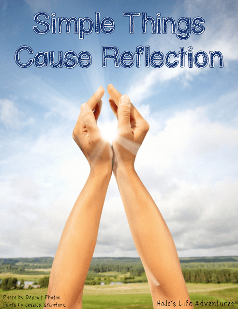 Simple Things Cause Reflection: Thinking about God