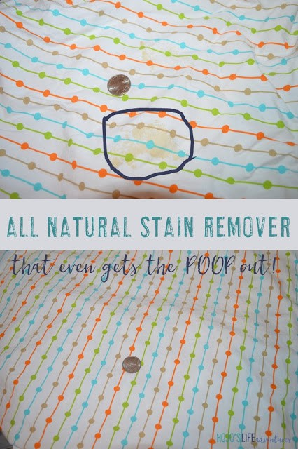 Are you looking for an all natural stain remover? Here you go! This one even took the poop out!