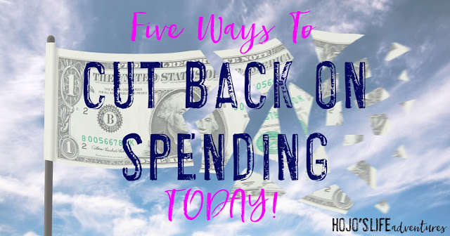 Are you ready to cut back on spending? Here are five tips to get you off on the right track so you can cut back on your spending habits TODAY!