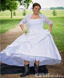 This bride ended up spending just $150 on her entire wedding dress outfit. Click through to find out how!