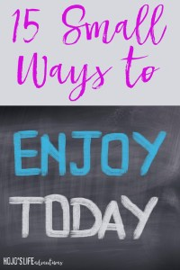 Are you looking for ways to enjoy today and lead a happier life? Then these 15 tips are sure to help!