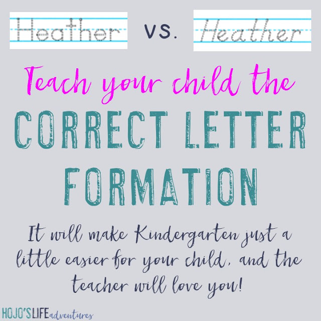 Did you know there are different ways to write letters? It's important that you choose the right one to get your child on the right path for Kindergarten. Click through to learn more (and to see some of the other important skills your child should learn!).