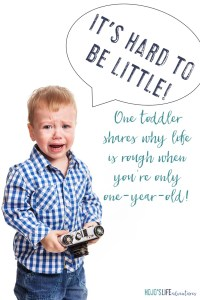 People, it's hard to be little! As a one-year-old, I'm going to share exactly what makes this life so rough! Click through to hear me out so you don't make the same mistakes with your baby or toddler!