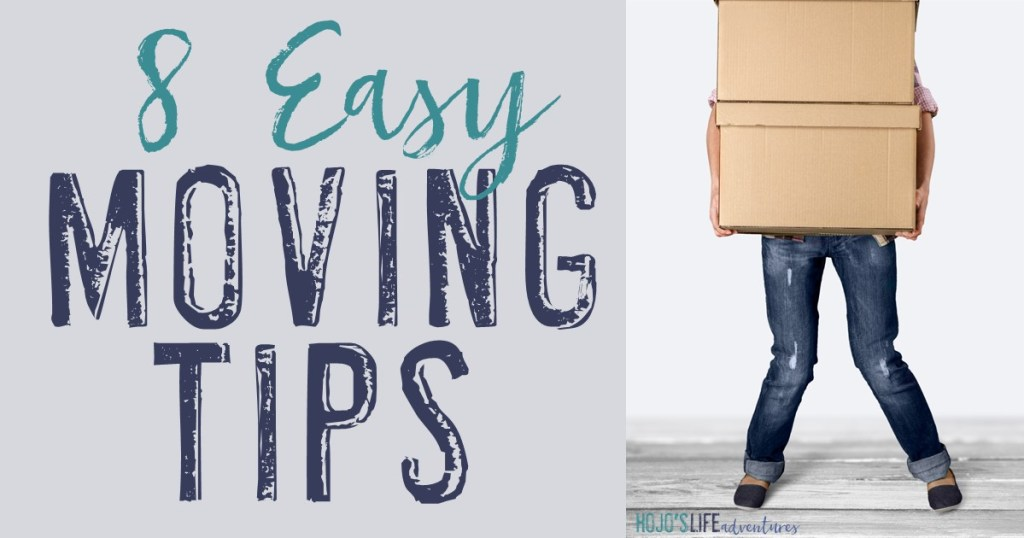Are you planning to move soon? Here are eight easy moving tips to help make the process more manageable and less unpleasant. Click through to see the decluttering, organizing, and packing strategies provided!