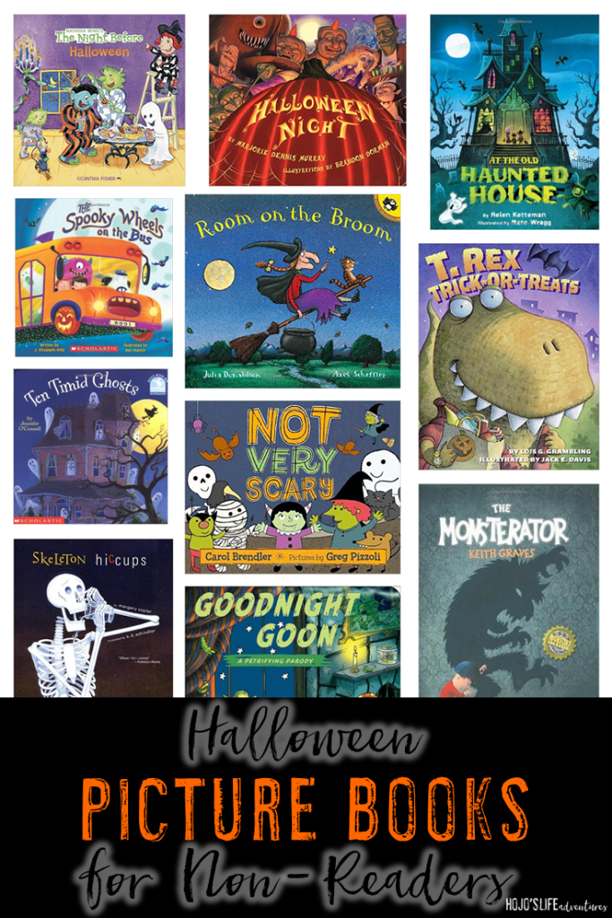 Are you looking for Halloween picture books for non-readers? Then you've come to the right place! These 11 books will be great for your baby, toddler, or preschool student all October long!