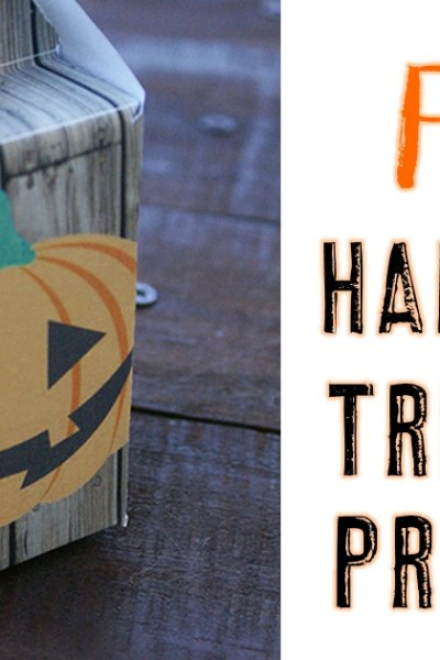 FREE Halloween Treat Box Printable
