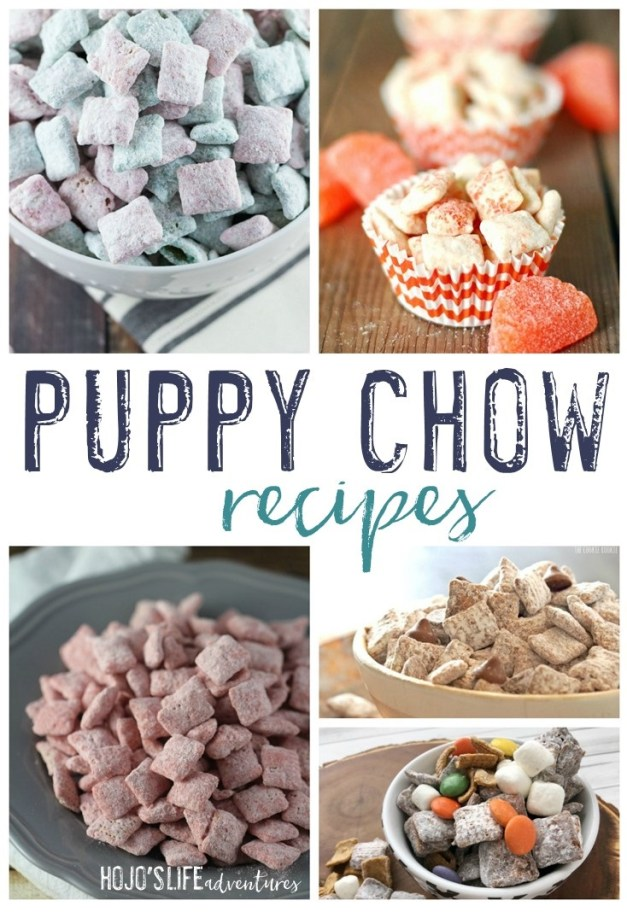 If you're on the lookout for great puppy chow recipes, you're going to love this round up of 15 different variations. Click through to try them all out today! They're sure to be a hit at the work office, for your child's birthday party, at a family picnic, or just as a late night snack.