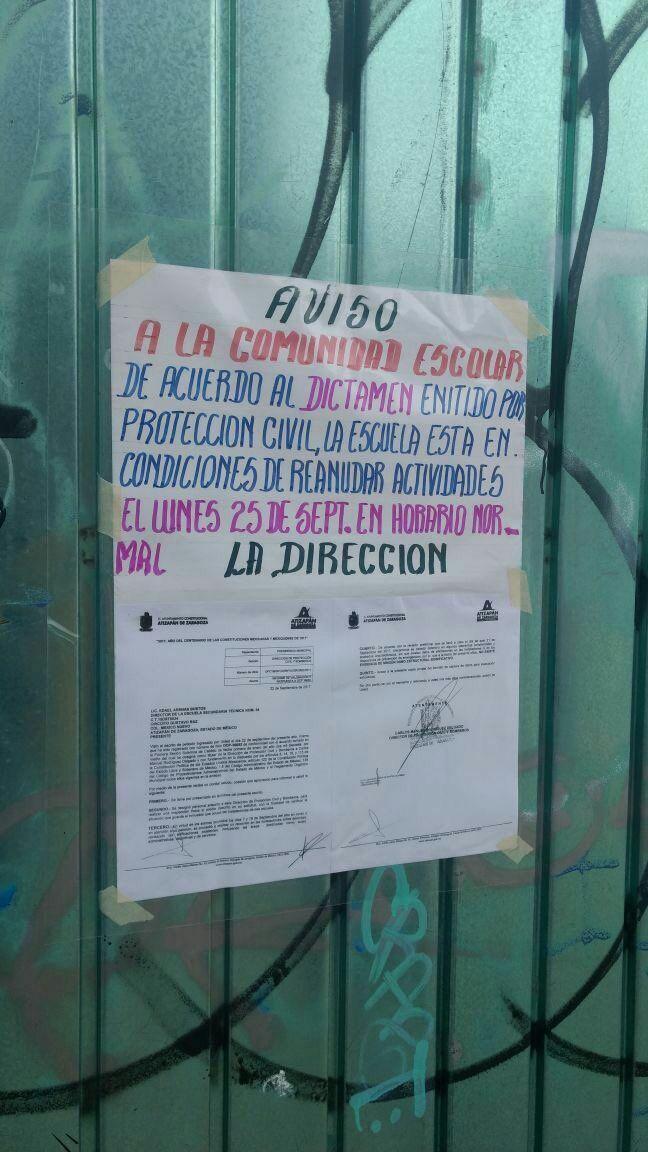 Primer reporte de escuelas en Atizapán que ya cumplen con su ...