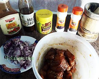 marination-ingredients YUMMIEST BARCHUP SAUCY CHICKEN