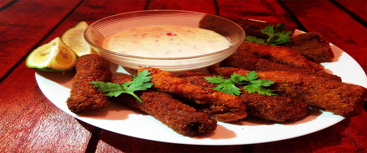 SIMPLE HOMEMADE FISH FINGERS WITH MINIMAL SPICES