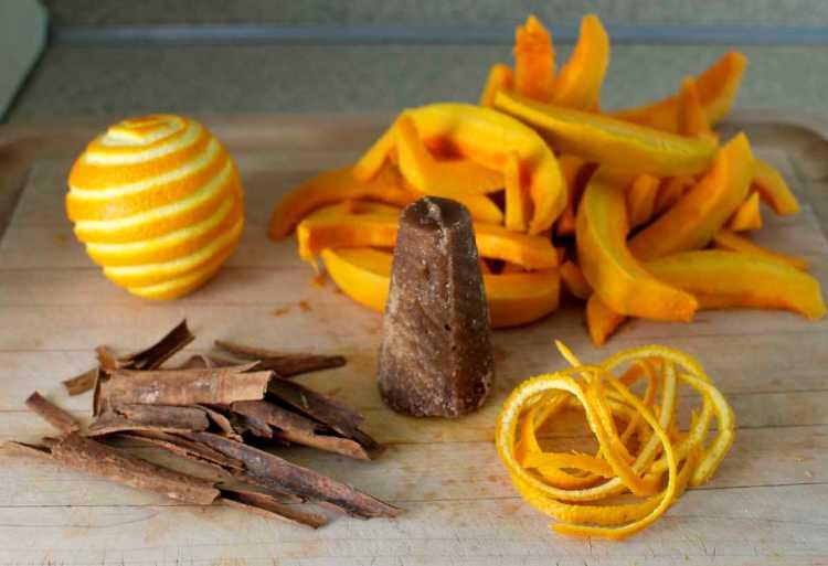 Candied pumpkin tart ingredients