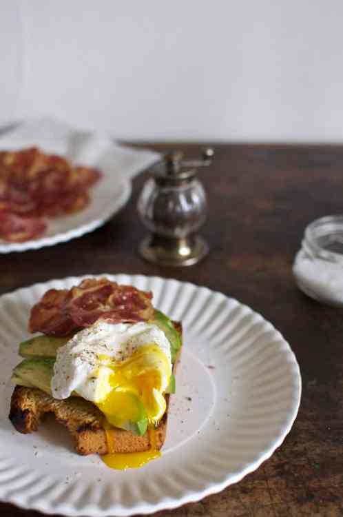 Toasted Beer Cornbread With Avocado Crispy Pancetta And