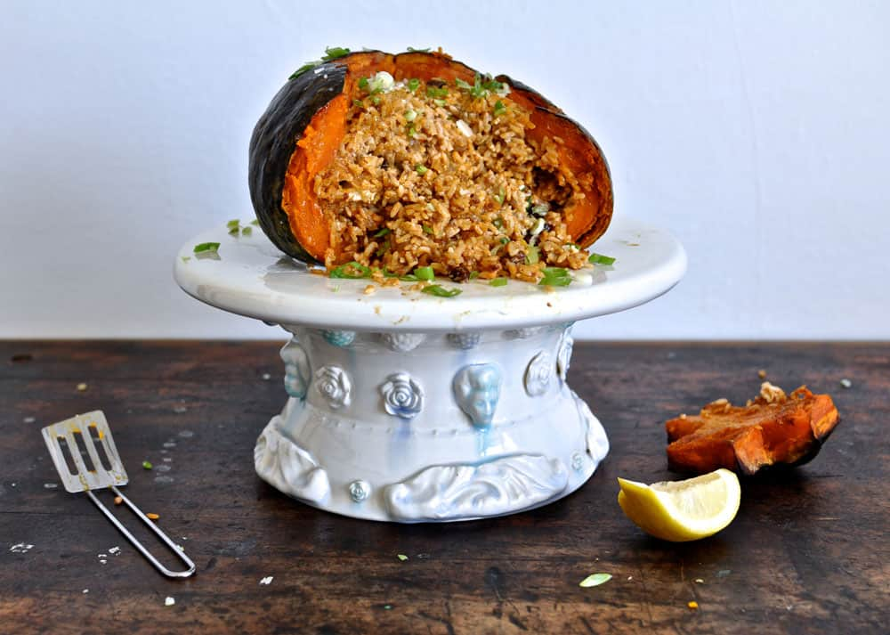 Stuffed Roasted Pumpkin {Gluten Free}