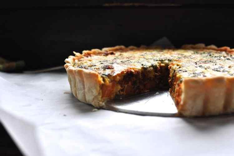 Sweet Potato-Chorizo Quiche Recipe
